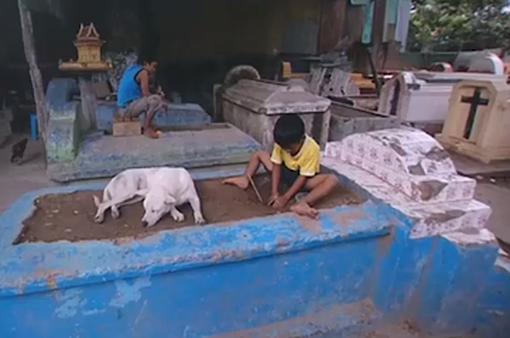 Dân nghèo Campuchia sống chung với... người chết
