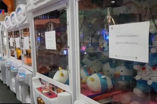 Thái Lan cấm trò chơi gắp thú