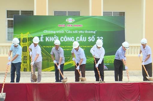 Khởi công xây dựng cầu dân sinh tại Thanh Hóa trước mùa bão