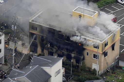 Vụ cháy xưởng phim hoạt hình ở Nhật Bản: Ít nhất 10 người thiệt mạng