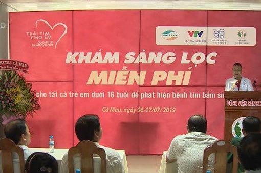 Khám sàng lọc tim bẩm sinh cho trẻ em tỉnh Cà Mau