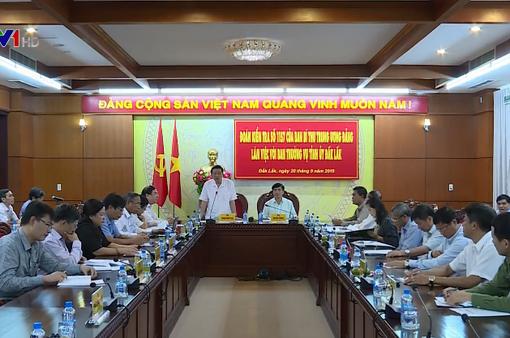 Kiểm tra thực hiện Nghị quyết Trung ương 4 tại Đăk Lăk