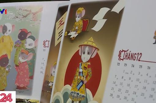 Bộ lịch năm Tý kể chuyện tích xưa nhà Nguyễn