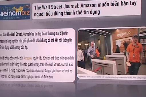 Amazon muốn biến bàn tay người tiêu dùng thành thẻ tín dụng