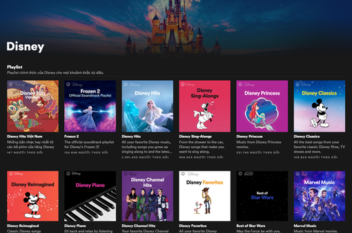 Người dùng Spotify tại Việt Nam đã có thể trải nghiệm Disney Hub