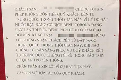Khách sạn từ chối phục vụ du khách du lịch Trung Quốc