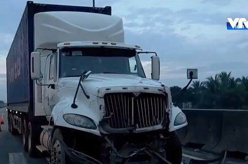 Tai nạn liên hoàn trên cao tốc TP.HCM - Trung Lương