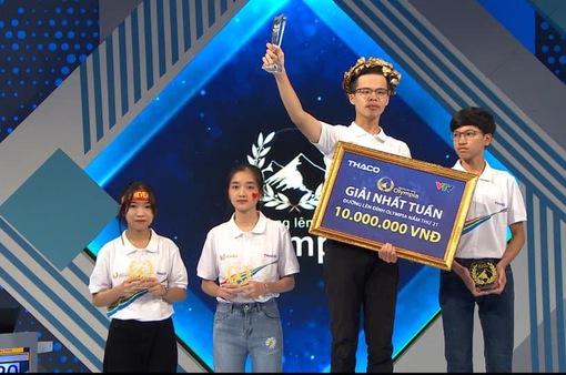 Nam sinh Hà Nội xác lập kỷ lục mới tại Đường lên đỉnh Olympia 2021
