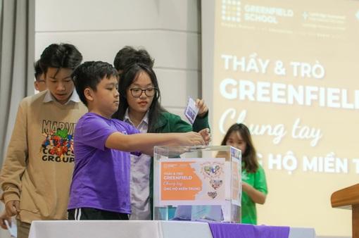 Trường Song ngữ Liên cấp Greenfield (KĐT Ecopark) đồng hành cùng Quỹ Tấm lòng Việt ủng hộ miền Trung