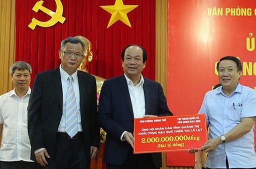 Thêm 6 tỷ đồng ủng hộ 3 tỉnh miền Trung bị ảnh hưởng bởi thiên tai