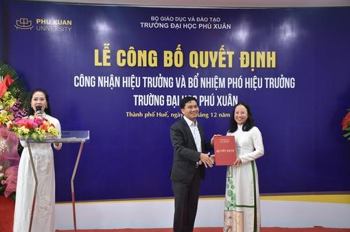 Đại học Phú Xuân bổ nhiệm Hiệu trưởng mới