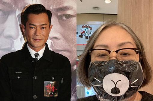 Cổ Thiên Lạc tặng khẩu trang cho các diễn viên lớn tuổi
