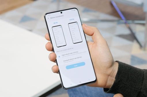 Galaxy S20 Ultra: So sánh độ hao pin của màn hình 120 Hz và 60 Hz