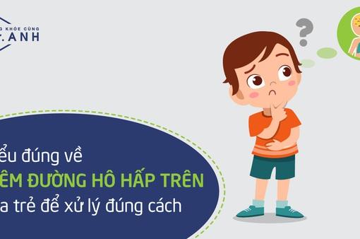 Hiểu đúng về viêm đường hô hấp trên của trẻ để xử lý đúng cách