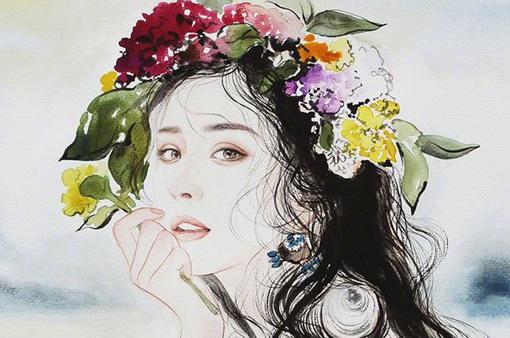 Tung ảnh vẽ, Dương Mịch đẹp tuyệt trên ấn phẩm Thụy Lệ