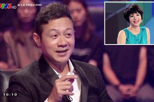 """Diễm Quỳnh trợ giúp trả lời xuất sắc cho MC Anh Tuấn chơi """"Ai là triệu phú"""""""