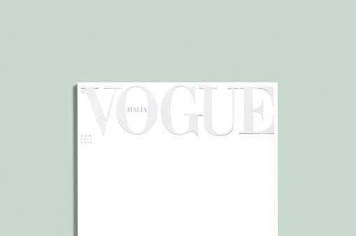 Lần đầu tiên trong lịch sử: Ấn phẩm Vogue Italy để trang bìa trắng tinh