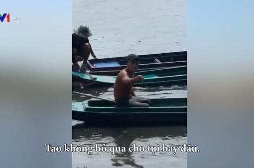 Bắt cá phóng sinh còn dùng hung khí đánh công an