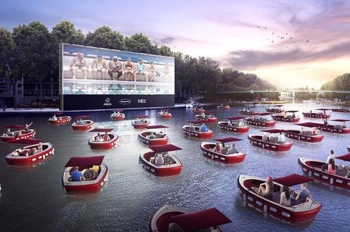 Trải nghiệm độc đáo rạp chiếu phim trên nước tại Pháp