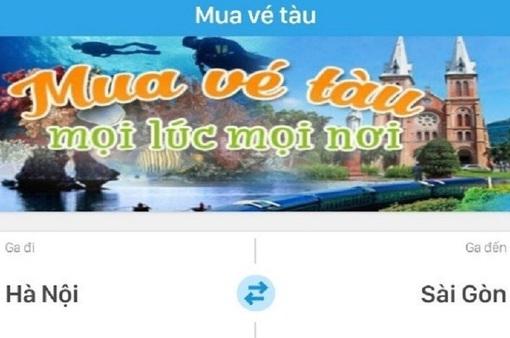 Đã có thể mua vé tàu trực tuyến qua ứng dụng trên điện thoại