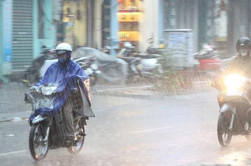 2 ngày cuối tuần, Bắc Bộ có mưa rào và dông, đề phòng mưa đá, gió giật mạnh
