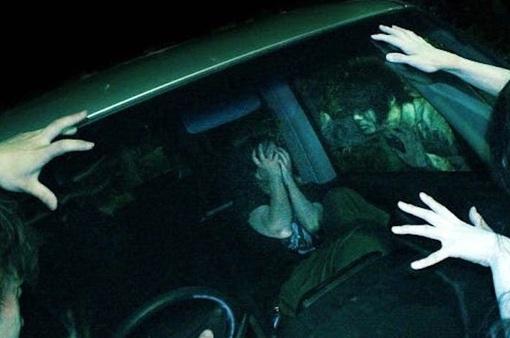 Dựng tóc gáy, trải nghiệm lái xe xuyên nhà ma kinh hoàng tại Nhật Bản