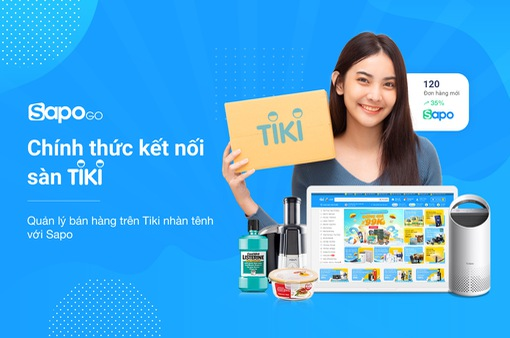 Sapo Go chính thức kết nối với sàn Thương mại điện tử Tiki