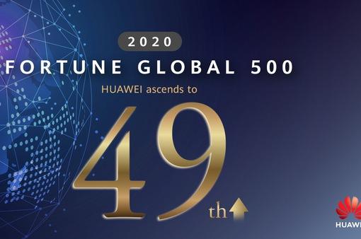 Huawei lọt vào top 50 của bảng xếp hạng Fortune Global 500 năm 2020