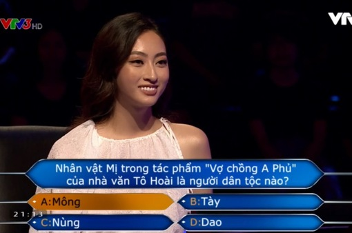 """Hoa hậu Lương Thùy Linh """"băng băng"""" vượt qua loạt câu hỏi của Ai là triệu phú"""