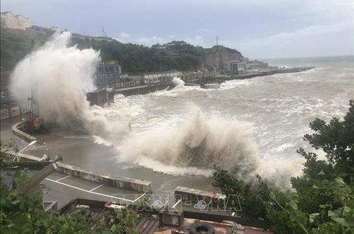 Bão Hagupit gây mưa lớn tại Thượng Hải (Trung Quốc)