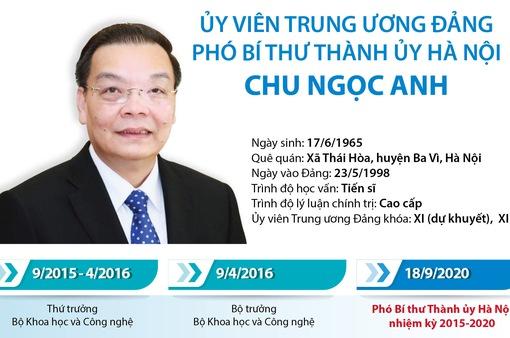 [INFOGRAPHIC] Quá trình công tác của Phó Bí thư Thành ủy Hà Nội Chu Ngọc Anh