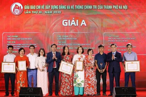 Hà Nội trao thưởng 2 giải báo chí về xây dựng Đảng và phát triển văn hóa