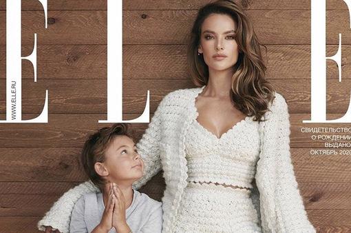 Cựu thiên thần Victoria's Secret tạo dáng cùng 2 con