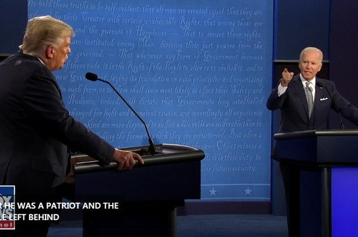 Ông Donald Trump và Joe Biden tranh luận gay gắt về vấn đề Tòa án Tối cao và dịch COVID-19