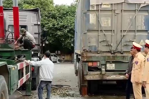 Xử lý nghiêm xe container hoán cải thành xe tự đổ