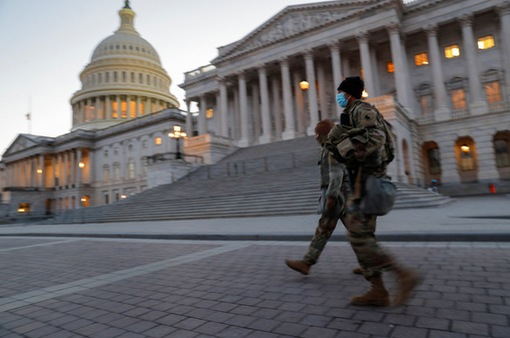 Lực lượng an ninh tăng cường dày đặc trước lễ nhậm chức của ông Joe Biden