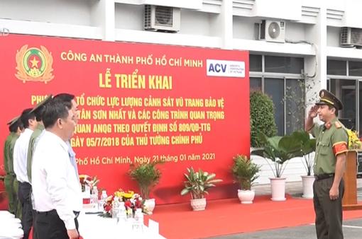 Cảnh sát vũ trang bảo vệ sân bay Tân Sơn Nhất