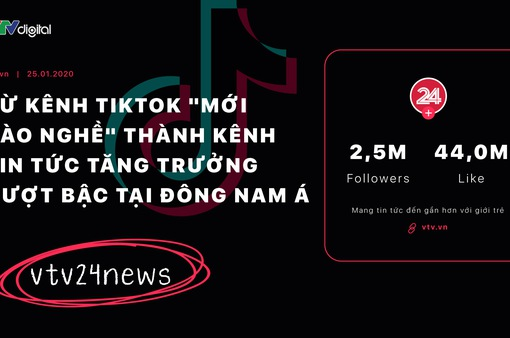 """vtv24news - Từ kênh TikTok """"mới vào nghề"""" thành kênh tin tức tăng trưởng vượt bậc tại Đông Nam Á"""
