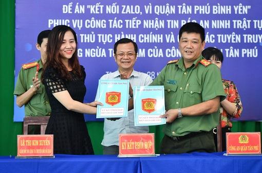 Quận Tân Phú triển khai đồng loạt mô hình Zalo an ninh tích hợp chatbot