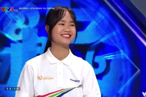 """Nữ sinh Thái Nguyên trổ tài đọc Rap ở """"Đường lên đỉnh Olympia"""""""