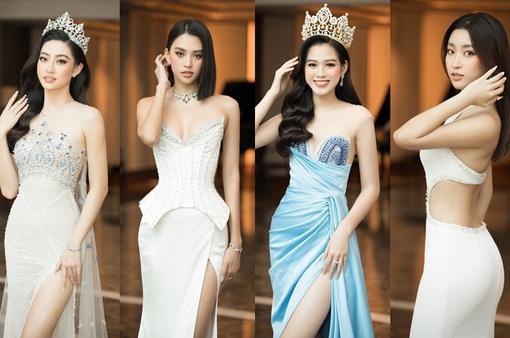 Đỗ Thị Hà nổi bật giữa dàn Hoa hậu tại họp báo Miss World Vietnam 2021