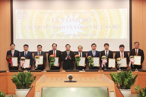 Hà Nội bổ nhiệm thêm 9 lãnh đạo cấp sở, đơn vị trực thuộc UBND thành phố