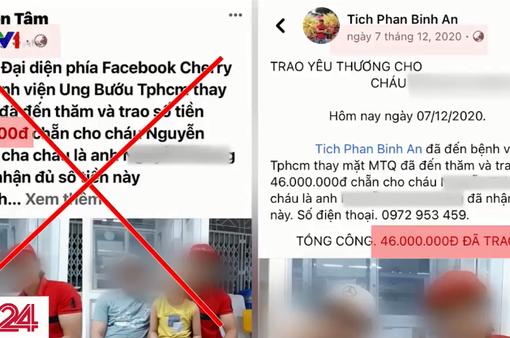 Giả mạo Facebook của người làm từ thiện lâu năm để trục lợi từ người bệnh