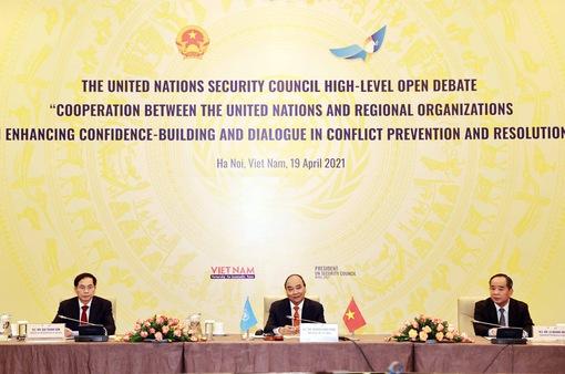 Chủ tịch nước Nguyễn Xuân Phúc chủ trì Phiên thảo luận mở Cấp cao của Hội đồng Bảo an LHQ