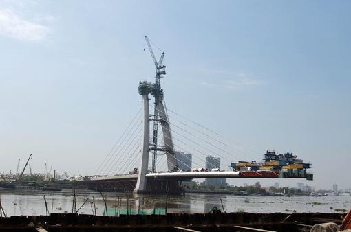 Cầu Thủ Thiêm 2 sẽ thi công trở lại cuối tháng 4/2021