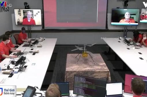 Thiết bị trực thăng đầu tiên hạ cánh xuống sao Hỏa