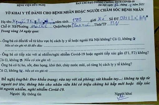 BV Hữu Nghị Việt - Xô: Vợ chồng Giám đốc Hacinco mắc COVID-19 khai báo y tế không trung thực