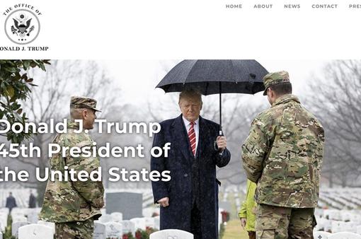 """Cựu Tổng thống Trump chính thức """"trình làng"""" website chính thức của riêng mình"""