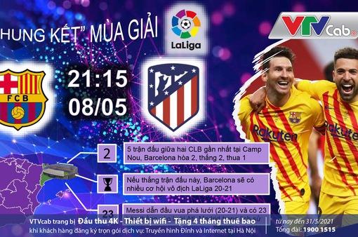 Đón xem những vòng đấu quyết định trên VTVcab: Ai xứng đáng ngôi vương La Liga?