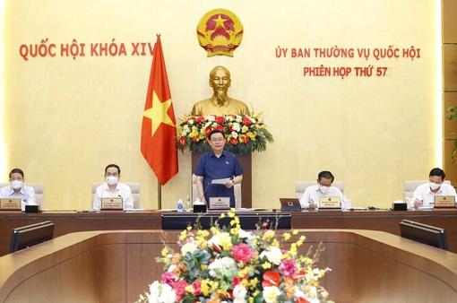 Chủ tịch Quốc hội Vương Đình Huệ chủ trì Phiên họp thứ 57 của Ủy ban Thường vụ Quốc hội